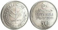 PALESTINE  ,  ISRAEL  ,  50  MILS  ARGENT  1927  ,  TRÈS  BELLE  MONNAIE