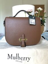 Mulberry Handbag Shoulder Bag Tan Brown Leather With Suede Interior RP