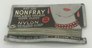 1940s Nonfray Pearl & Bead Threader