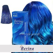 BERINA A41 Hair Color Blue Permanent Hair Dry Cream Fashion Style Unisex