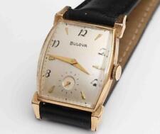 1953 vintage Art Deco Bulova Mens Wristwatch