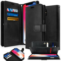 For Apple iPhone XR S Case Dual Shockproof Flip Wallet leather Case Holder Cover