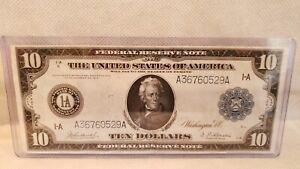 """1914 $10 Silver Certificate """"Boston"""" (Near Unc)"""