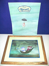 "THE RESCUERS DISNEY STORE LITHOGRAPH COMMEMORATIVE MASTERPIECE 11""x14"" FRAMED"