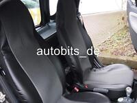 Sitzbezüge Schonbezüge Grau stoff Kunstleder für Smart Fortwo ForTwo 450 451 452