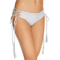Ellejay Paige Side Tie Bikini Bottom Striped, L