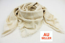 100% Cotton Fine Jacquard Square Scarves Women Ladies Fashion Wraps Light Khaki