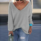 Women Casual Long Sleeve Knitted Pullover Loose Sweater Knitwear Jumper Tops