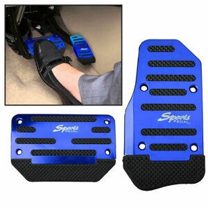 Universal Blue Non-Slip Automatic Gas Brake Foot Pedal Pad Cover Accessories Kit