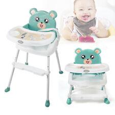 4 in1 Kinderstuhl Babystuhl Hochstuhl Verstellbar Zusammenklappbar Highchair DHL