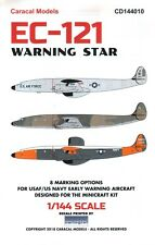 NEW 1:144 Caracal Models Decals 144010 Lockheed EC-121 Warning Star