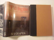 F is for Fugitive, Sue Grafton, DJ, 1st Edition, 1989