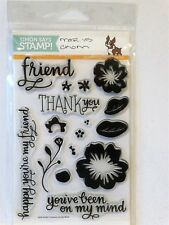 Simon Says Stamp FLOWERS ON MY MIND Stamps NEW RETIRED Friend Thank you
