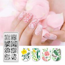 Nail Stamping Plates Flower Leaf Nail Art Stencil Spring Garden-L001 BORN PRETTY