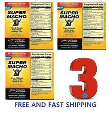 Super Macho Dietary Supplement High Potency B Vitamins   50 Count Ginseng & Zinc
