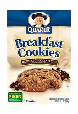 Quaker Breakfast Cookies Oatmeal Chocolate Chip 6 Cookies Per B... Free Shipping
