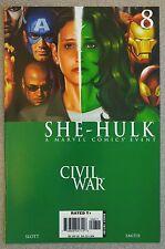 **She-Hulk #8** CIVIL WAR!! CAPTAIN AMERICA MOVIE!! CAGE! SPIDER-MAN! IRON MAN!!