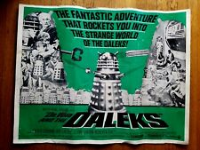 DOCTOR WHO AND THE DALEKS 1966 ORIGINAL MOVIE LOBBY POSTER 22X28 ~ Ray Rohr