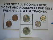 2020 P-D~~LINCOLN CENTS; JEFFERSON NICKEL; & ROOSEVELT ALL 6 COINS W/ FREE SHIP