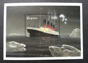 [SJ] Guyana Titanic 2012 Sinking Ship Movie Transport Vehicle (ms) MNH