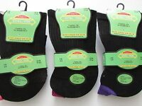 6 Pairs Womens Extra Wide Comfort Fit Diabetic Socks Poor Circulation 4-8 (160)