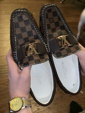 LOUIS VUITTON men's Hockenheim brown damier loafers shoes