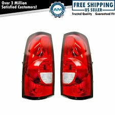 Tail Lights Taillamps Pair Set For 2004-2007 Chevrolet Silverado 1500 2500 3500