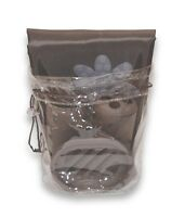 Bath in a Bag Accessory Set- Fabric Shower Curtain Liner, Rings-Brown