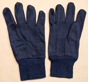 12 Pair, 8 oz Cotton Brown Jersey Knit, Men's Gloves, Clute-Cut, Knit Wrist