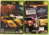 Lot of 2 XBox Video Game (Ford VS Chevy) & (Sega GT 2002) Both Complete CIB