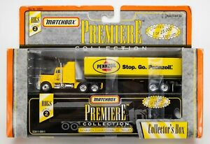 1998 Matchbox Premiere Collection Rigs Kenworth Conventional YELLOW / PENNZOIL