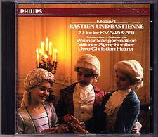 MOZART Bastien und Bastienne WIENER SÄNGERKNABEN Uwe Christian Harrer CD 1987