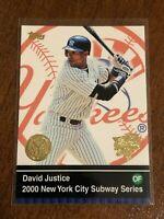 2000 World Series Topps Baseball Base Card - David Justice - New York Yankees