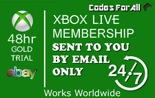 XBOX LIVE 2 DAYS 48 HOURS GOLD TRIAL CODE INSTANT DISPATCH