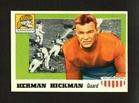 1955 Topps All-American #1 Herman Hickman ROOKIE RC - HIGH GRADE  NM