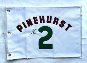 Pinehurst No. 2 White Embroidered Golf Pin Flag NEW