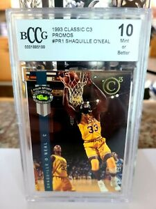 1992 Classic Four Sport Shaquille O'Neal Promo PR1 RC Rookie Beckett BCCG 10🔥🔥