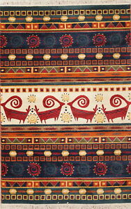 New Oriental Moroccan 5x7 One-of-a-Kind Animal Pictorial Area Rug MODERN