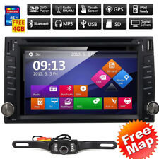 """GPS Navigation With Map Bluetooth Radio Double Din 6.2""""Car Stereo DVD Player VCD"""