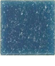 Glass Mosaic Tiles - 25 Tiles - 3/4 inch Denim Blue Vitreous