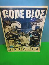 NCAA- 2012-13 UMASS LOWELL HOCKEY CODE BLUE HOCKEY NOTES