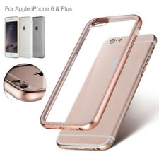 For Apple iPhone 6 Plus / 6 Slim Real Metal Bumper Transparent Clear Phone Case