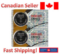 Maxell CR2025 Lithium Battery 2025 3V coin cell batteries 2P (2 batteries)