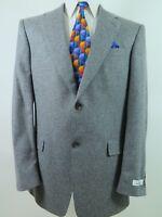 Hickey Freeman Mens Wool Gray Speckled Blazer Jacket Sport Coat 42 L USA NWT NEW