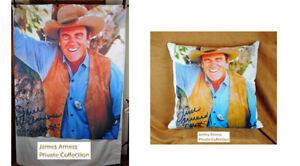 "James Arness Gunsmoke ""Marshal Dillon""  50 x 60 Fleece & Pillow Combo"