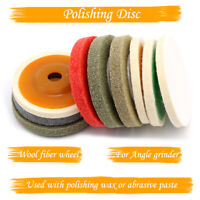 New 100mm 4 Inch Wool Buffing Pad Angle Grinder Polishing Wheel Felt Buffer Disc