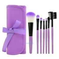 7Pcs Professional Soft Cosmetic Makeup Foundation Brushes Set + Pouch Bag Case #