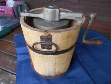 Antike piguin  manuelle Eismaschine Eisbereiter 2 Liter Von CA. 1920