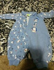Sears Baby Boy's 0-3Mo Blue Sleeper