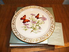 Vintage Lenox Collector Plate Butterflies & Flowers Question Mark & N.E. Aster